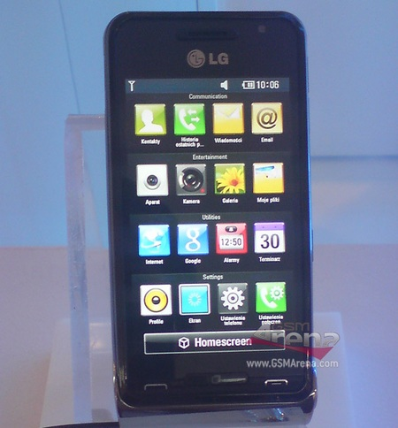 LG GC990 Louvre Concept Phone front