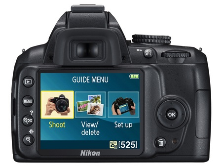 Nikon D3000 Entry-Level DSLR Camera back