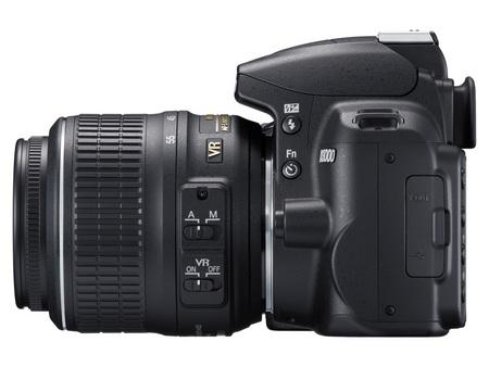 Nikon D3000 Entry-Level DSLR Camera left