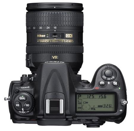 Nikon D300s DSLR top