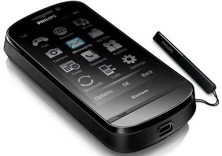 Philips Xenium X830 Touchscreen phone with 1.5 months standby