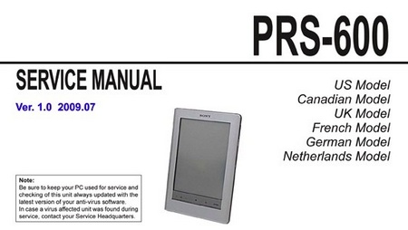 Sony PRS-300 and PRS-600 e-book Readers