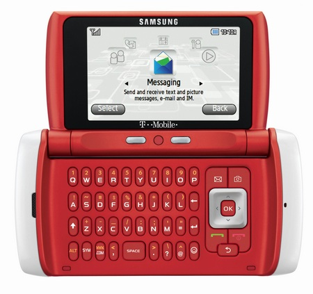 T-Mobile Samsung Comeback t559 qwerty phone red