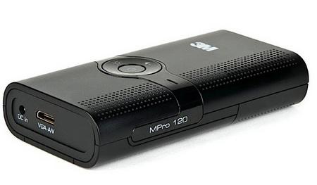3M MPro120 Pocket Projector ports