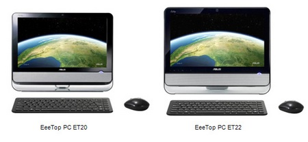 Asus EeeTop PC ET20 and ET22 Series All-in-one PCs