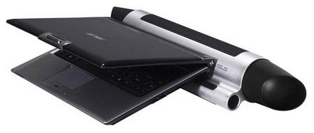 Asus uBoom sound-bar notebook speakers as notebook dock