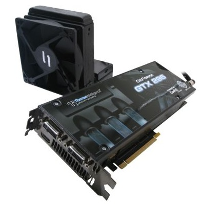 BFG GeForce GTX295 H2OC and GTX285 H2O+ Graphics Cards with Self-contained Liquid Cooling