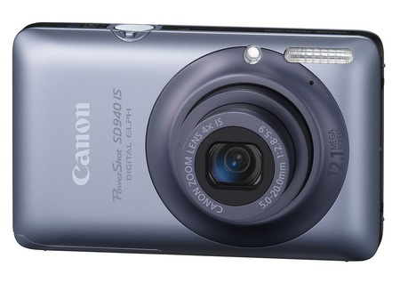 Canon PowerShot SD940 IS Digital ELPH Camera blue