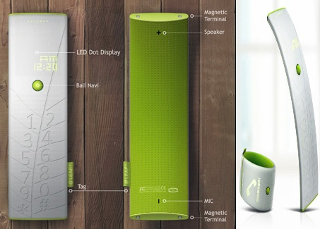 Concept Solar Phone is also a watch front back