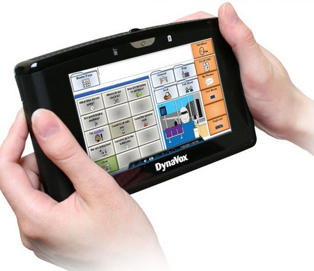 DynaVox Xpress handheld augmentative communication device