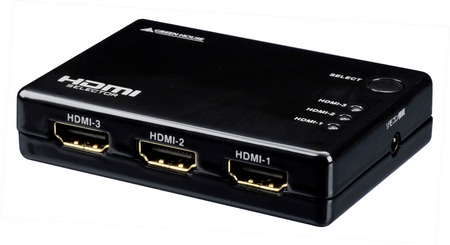 Green-House GH-HSW301 3-Port HDMI Switch