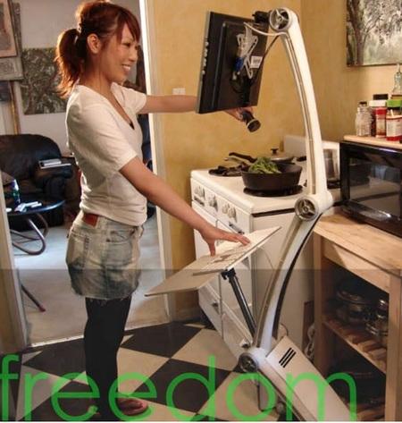 Iropod PC-  Interactive Robotic Pod Computer kitchen