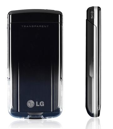 LG GD900 Crystal touch phone transparent design back side