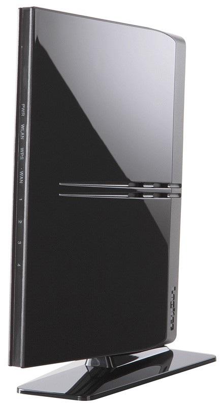Logitec LAN-W300N-R Slim Wireless Router stand