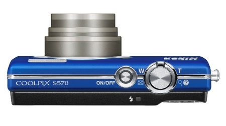 Nikon CoolPix S570 Digital Camera top