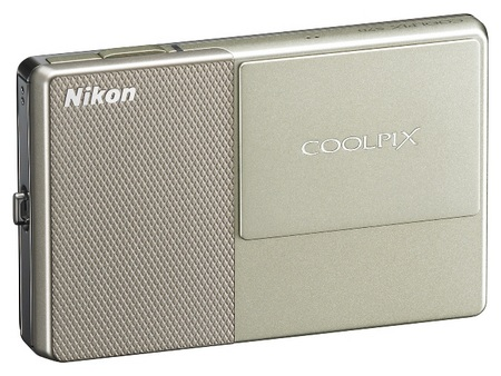 Nikon CoolPix S70 Touchscreen Camera Champagne & Beige