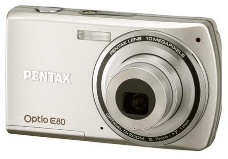 Pentax Optio E80 digital camera silver