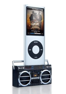 Retro Cassette Stereo iPod iPhone Speaker