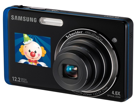 Samsung DualView TL220 dual LCD camera blue