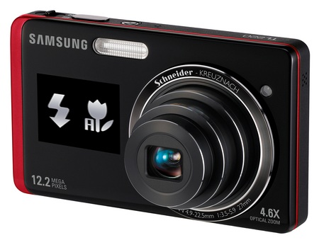 Samsung DualView TL220 dual LCD camera red