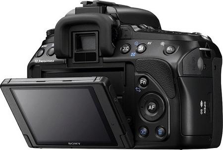 Sony Alpha a500 DSLR flip lcd