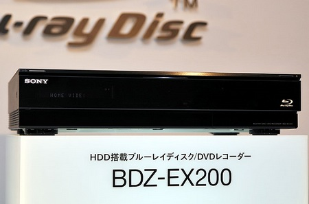 Sony BDZ-EX200 Blu-ray Recorder with 2TB Hard Drive