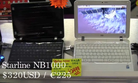 Starline NB1000 Netbook with Invisible Touchpad