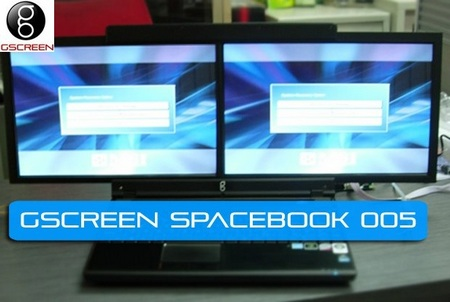 gScreen Spacebook Dual-Screen Notebook
