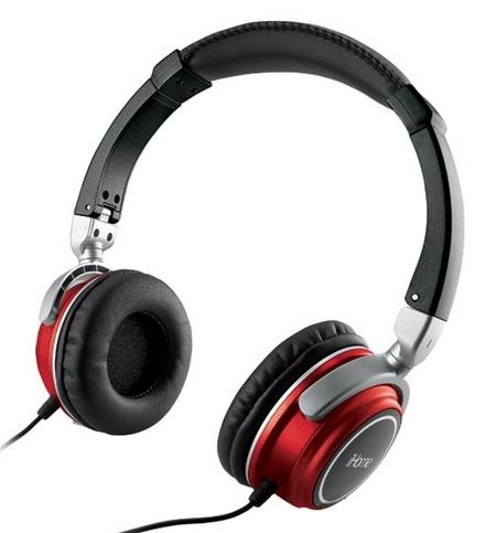 iHome iHMP5 2-in-1 Headphones Portable Speakers red