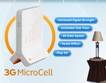 AT&T 3G MicroCell Cellular Network Extender