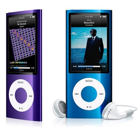 Apple iPod nano 5G gets Camera and FM Radio blue purple