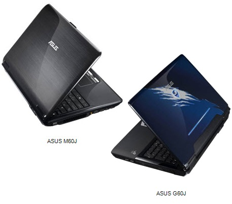 Asus G60J and M60J Notebooks get Core i7-QM