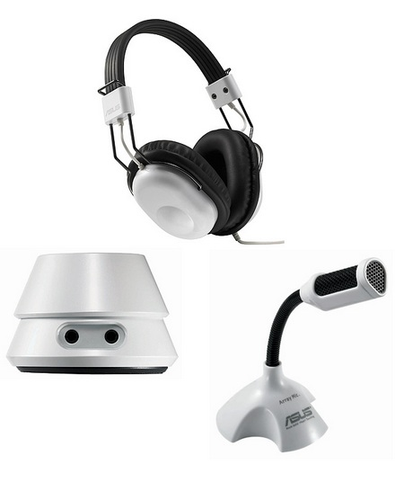 Asus HP-100U Dolby Headphone set components