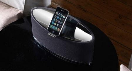Bowers & Wilkins Zeppelin Mini iPod Speaker System on table