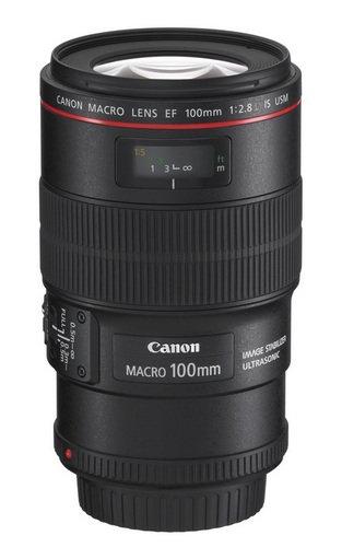 Canon EF 100mm f-2.8L Macro IS USM lens with Hybrid Image Stabilization