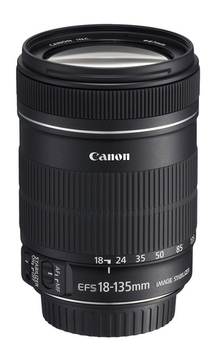 Canon EF-S 18-135mm f-3.5-5.6 IS lens