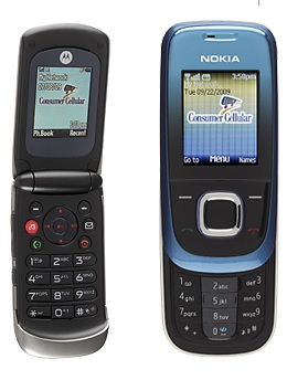 Consumer Cellular Motorola EM330 and Nokia 2680