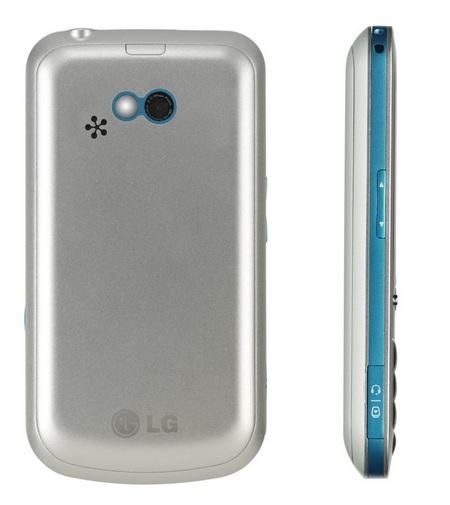 LG GW300 QWERTY Phone back side