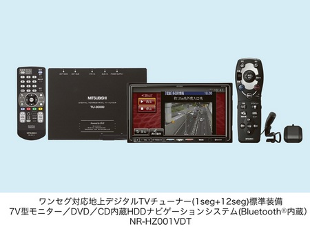 Mitsubishi NR-HZ001VDT and NR-HZ001S In-car Entertainment Naivgation Systems