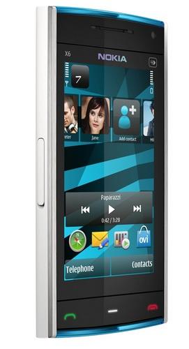 Nokia X6 Touchscreen Phone Blue White