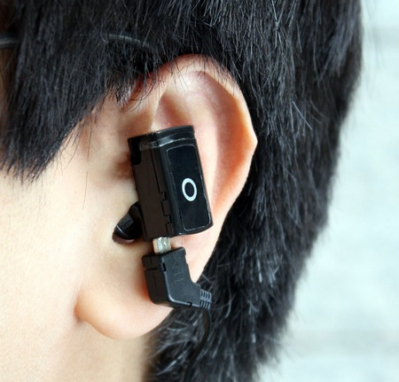 Thanko Microsports Tiny MP3 Player on ear