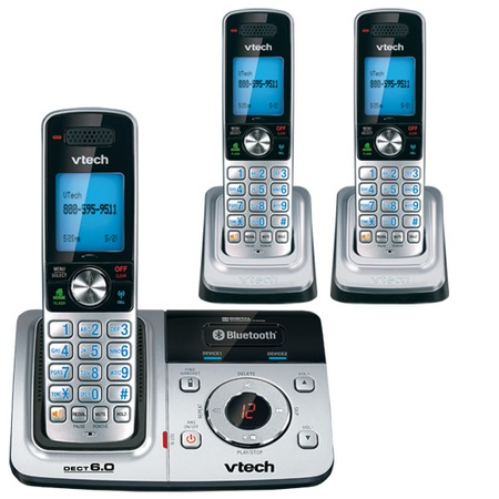 VTech DS6321-3 Cordless Phone with Bluetooth