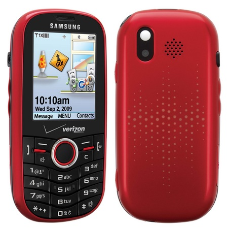 Verizon Samsung Intensity SCH-U450 Messaging Phone Flamingo Red