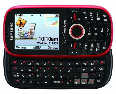 Verizon Samsung Intensity SCH-U450 Messaging Phone keypad