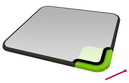 quirky Scratch-n-Scroll Noteable Mousepad with stylus