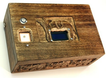 Homemade GPS puzzle box