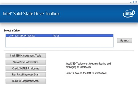 Intel Solid-State Drive Toolbox with SSD Optimizer