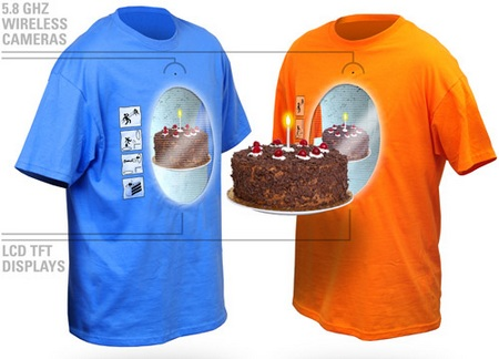 Interactive Portal Shirt with camera and LCD