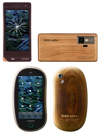 NTT DoCoMo Touch Wood Concept Phones