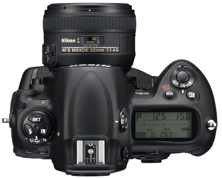 Nikon D3s DSLR Camera top